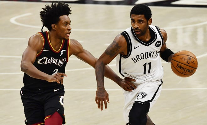 Collin Sexton and the Cavaliers are 8-7 after two wins over Kyrie Irving and the Brooklyn Nets. [Ken Blaze/USA TODAY Sports]