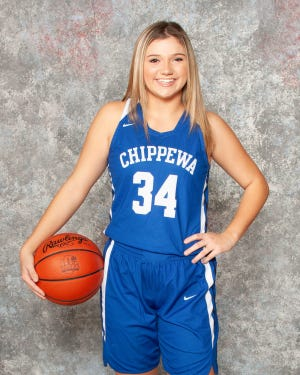 Chippewa's Taylor Thomas hit nine 3-pointers in a victory over Hillsdale on Saturday, setting a school record.
