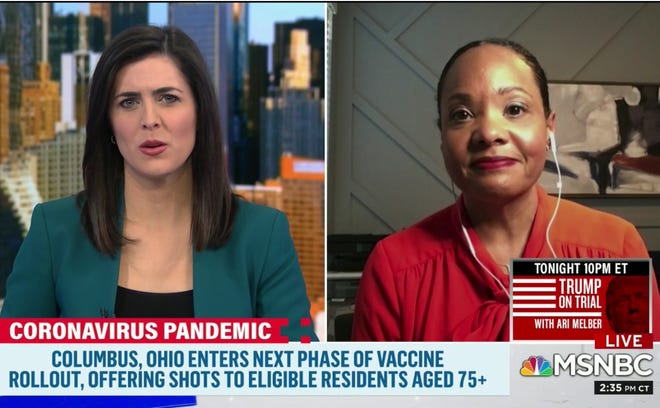 Dr. Mysheika Roberts, commissioner of Columbus Public Health, appeared on MSNBC on Sunday to talk about Ohio's COVID-19 vaccine rollout.
