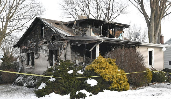 No one was injured in a Jan. 23, 2021 fire that destroyed this house at 316 Templeton Ave. in Girard, shown here on Jan. 24, 2021.