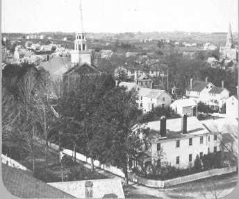 A view of Dover from the Pine Hill Cemetery. It was officially established as the town cemetery at a town meeting on March 29, 1731, according to city archives.
