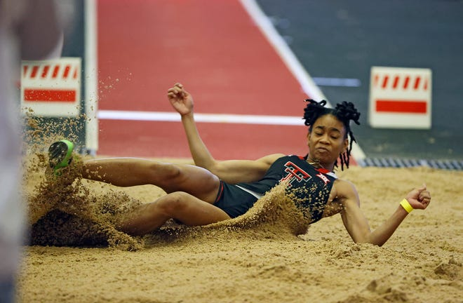 Texas Tech newcomer Monae' Nichols won the long jump and the triple jump in Saturday's Red Raider Invitational at the Sports Performance Center. Nichols triple-jump mark of 22 feet, 1 3/4 inches gave her the world lead this season and was 11th best in NCAA history by a woman indoors.