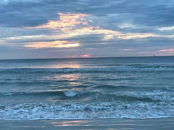 Sunrise at Vilano Beach.