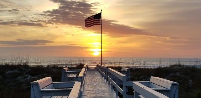A sunrise off Ocean Hibiscus Drive in St. Augustine Beach.