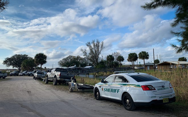 Brevard County Fire Rescue, Brevard County sheriff's deputies, and Florida Fish and Wildlife agents gathered near the St. Johns River to coordinate rescue.