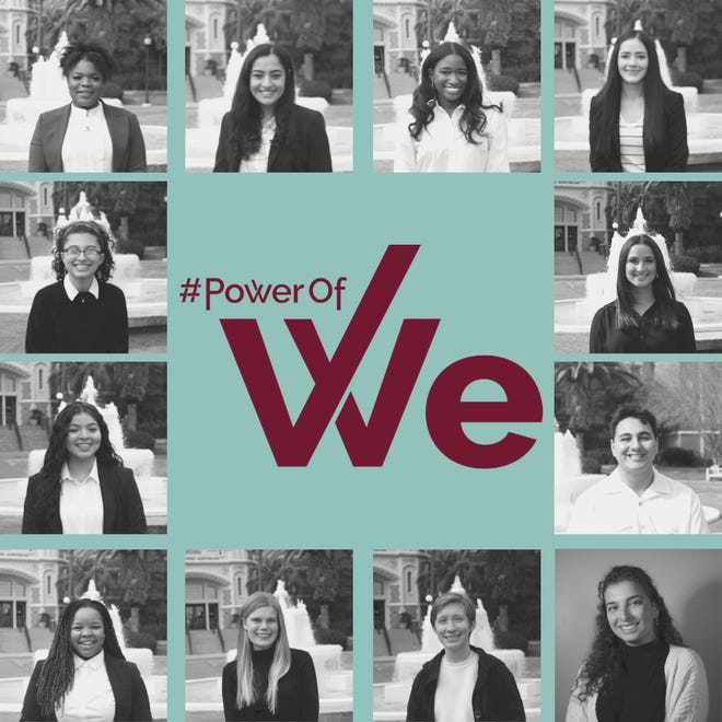 Current executive board of Power of WE 2.0 including director Victoria Paul and assistant director Rawan Abhari
