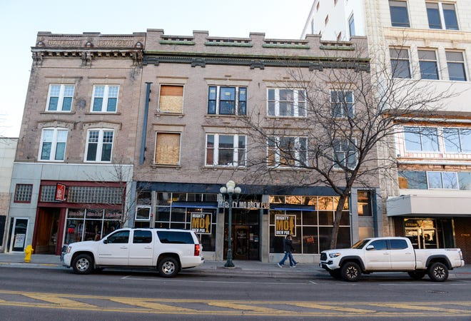 The space above the Mighty Mo Brew Pub, on Central Avenue in downtown Great Falls, is undergoing renovations.