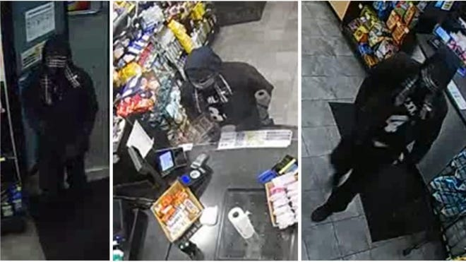 The armedtheft took place at 8:45 p.m. on Jan. 18 at Sunoco, located at1300 Mt. Rose Ave. The man took cash and cigarettes before fleeing on foot, police said.