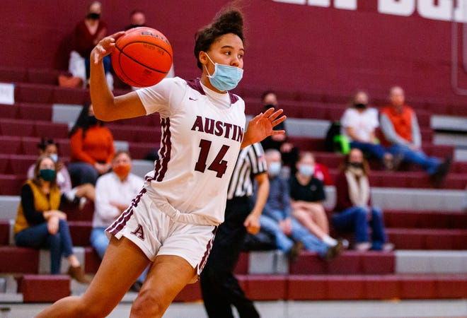 Aubrey Reid, a sophomore guard for Austin High, scored 14 points in each of the Maroons' wins over Westlake, Lake Travis and Hays.