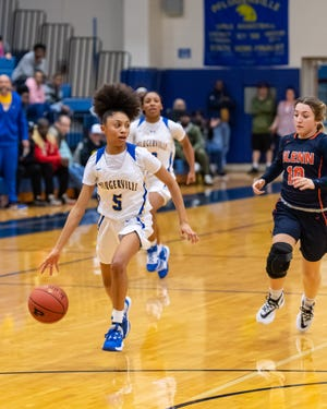 Avari Berry and the Pflugerville girls basketball team rolled to a 61-32 win over Weiss Friday to move into sole possession of third place in the District 18-5A standings.