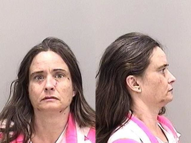 Misty McWee was arrested after allegedly threatening to kill two people with a machete.