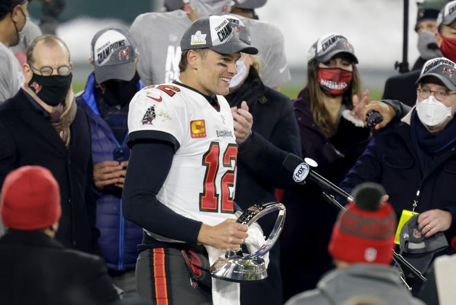 """""""It's great to get another road win, and now we got a home game,"""" said Tom Brady, who went 20 of 36 for 280 yards with three touchdowns. """"Who'd ever thought a home Super Bowl for us? But we did it."""""""