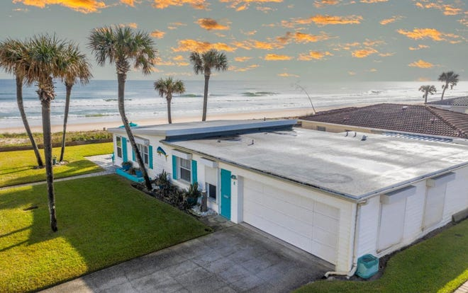 The owners recently had the roof replaced this direct oceanfront charmer in Ormond Beach.