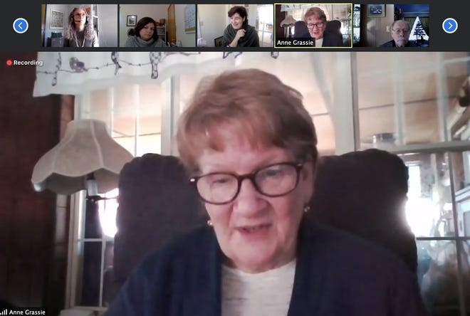 Rochester Child Care Center's Anne Grassie participates in a virtual roundtable about early childhood education and the COVID-19 pandemic with U.S. Sen. Jeanne Shaheen, D-New Hampshire on Monday.