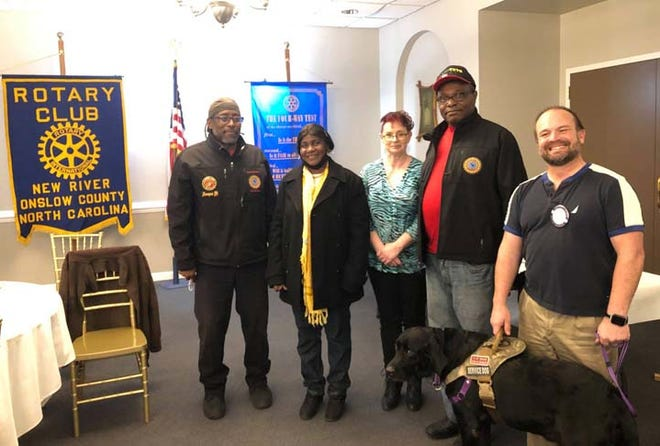 The International Association of Minority Veterans, Inc. (I*AM*VETS) recently gave a presentation at the New River-Onslow Rotary Club meeting. Nate Udofia spoke about the many ways in which they serve area veterans that may need help. For more information on this veteran organization, visit: https://www.iamvets.org/