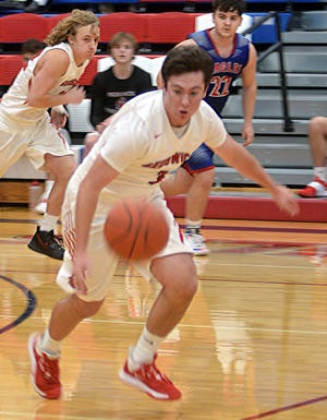 Sedgwick junior Lance Hoffsommer handles the ball during play Saturday at Canton.