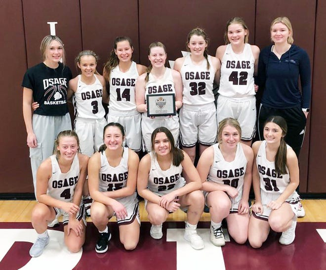 The Osage girls basketball team finished third in the Osage Tournament on January 23.