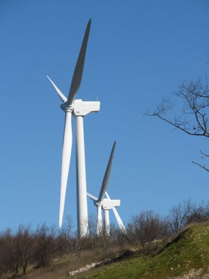 The existing Pinnacle Wind Farm (pictured) sits approximately five miles north of the site where construction has begun on the Black Rock WInd Farm. Both farms are operated by Clearway Energy.