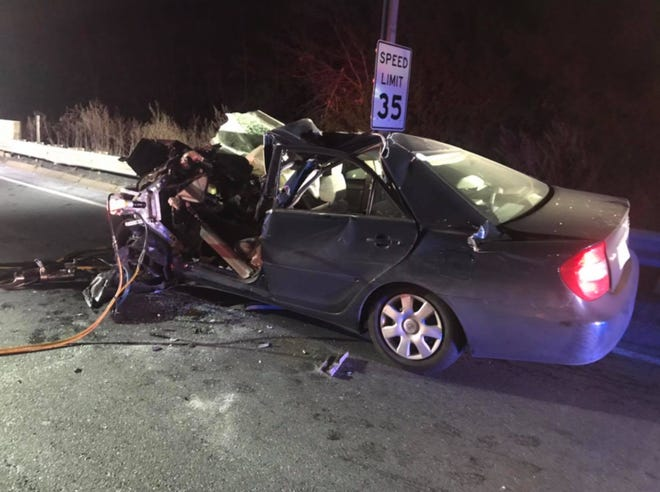 An Ashland man died after a crash on the off-ramp of Exit 123 on the Mass Pike in Weston, Jan. 24, 2021.
