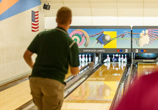 Sussex Tech's Matt Danielson of Sussex Tech watches his strike during the Hunterdon/Warren/Sussex Bowling Tournament on Jan. 22, 2020 at Oakwood Lanes in Washington Township.
