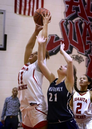 Sabanna Berrios was a monster in Division II as a freshman last winter; this year, she'll try to be even better going up against the best the state has to offer as Juanita Sanchez prepares for Division I play.