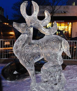 LIVE ICE CARVING. Ice carvers from Elegant Ice Creations will transform blocks of ice into polished sculptures from noon to 3 p.m. Saturday at Oakwood Square plaza at 2610 Easton St. NE in Plain Township. Admission is  free.