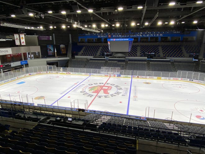 The ice has been laid at the BMO Harris Bank Center in Rockford in preparation for the upcoming Rockford IceHogs season. The Hogs will head to Hoffman Estates for Wednesday's preseason game against the Chicago Wolves before hosting Cleveland in the season opener on Feb. 5.