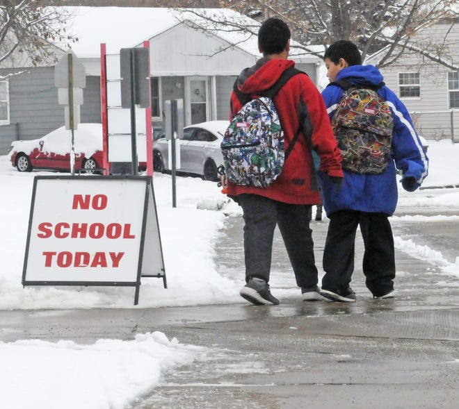 Area schools closed due to weather.