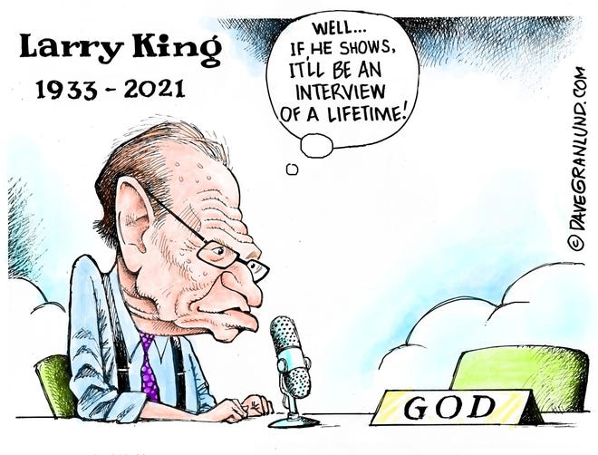 Granlund cartoon: Larry King Tribute
