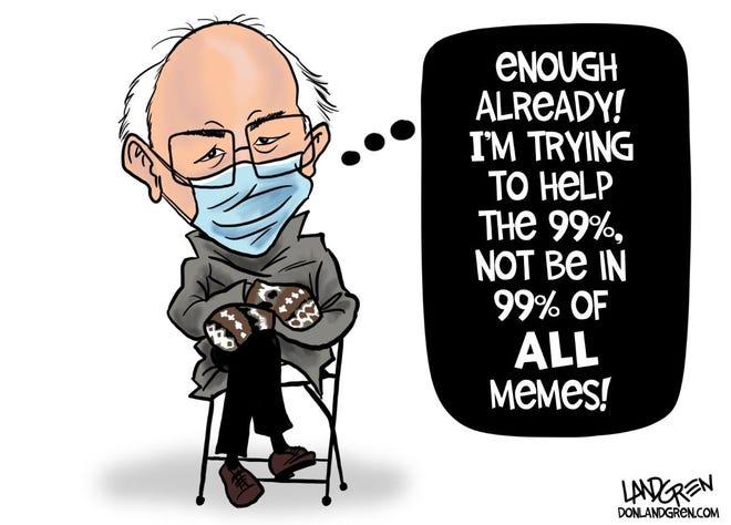 Landgren cartoon: Bernie's meme