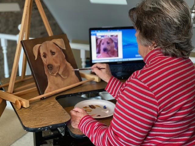 Painting portraits of pets for family and friends became Phillis Cook's primary focus after Beau, her beloved 15-year old pet Pekingese, died. And then she found a new focus that has changed her life completely.