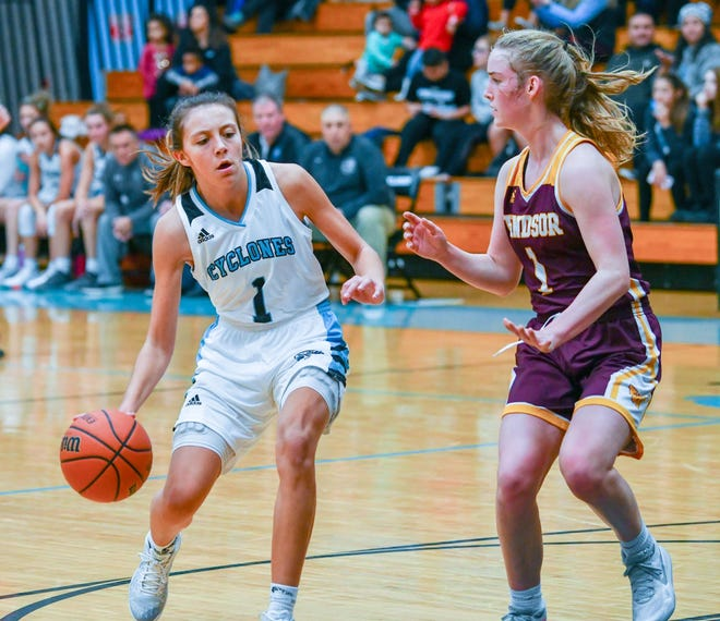Junior Gabby Louther (left)  will help lead the charge for the Pueblo West High School girl's basketball team this season.