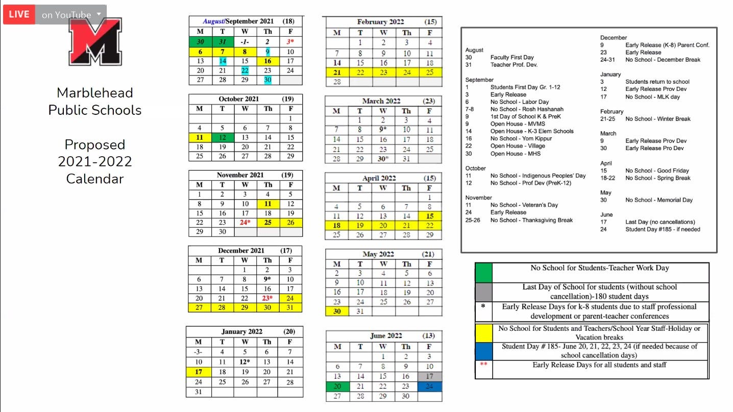 Jewish Holidays Calendar 2022.Talk Of New School Calendar Sparks Old Controversy In Marblehead