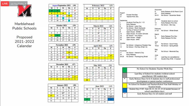 Calendar Of Jewish Holidays 2022.Talk Of New School Calendar Sparks Old Controversy In Marblehead