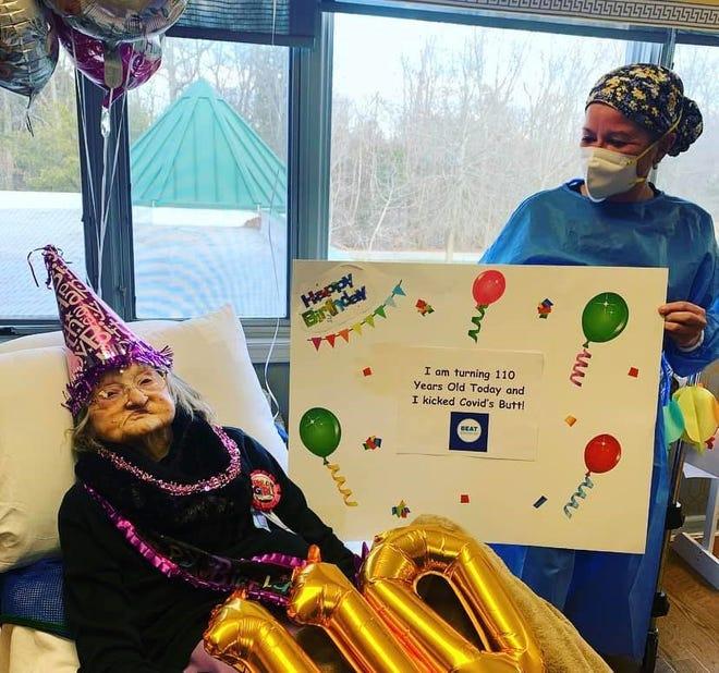 Hilda Brown on her 110th birthday