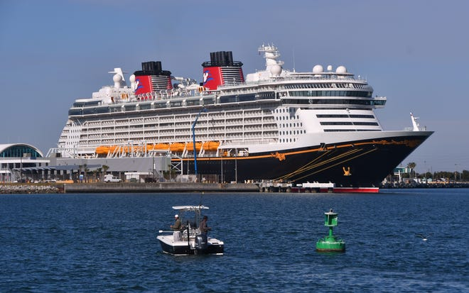The Disney Dream was docked Port Canaveral's Cruise Terminal 10 recently, without passengers, so it could get supplies and fuel.