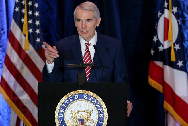 U.S. Sen. Rob Portman during a 2021 press conference where he announced he will not seek re-election.