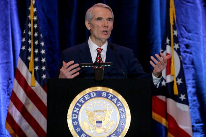 Sen. Rob Portman was not among five Republican senators who joined Democrats to shut down Sen. Rand Paul's challenge to the constitutionality of the impeachment trial.