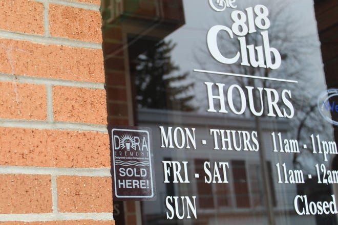 Fremont restaurants like the 818 Club on Croghan Street hope the city's launch of its new Designated Outdoor Refreshment Area (DORA) Friday will bring more residents to the downtown area.
