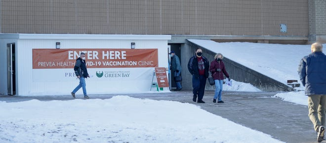 Prevea Health partners with UW-Green Bay to offer appointment-only COVID-19 vaccinations in the Kress Center and a gymnasium to the left of it. Department of Health Services announced anyone over the age of 65 is eligible starting Monday, Jan. 25, 2021 to receive the vaccine.