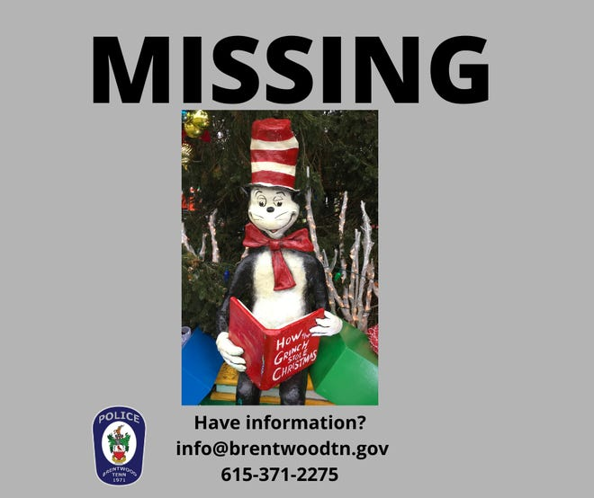 This is what the missing cat fixture from the Brentwood library looks like.