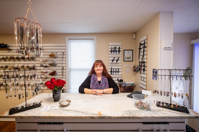 Melanie Lowe, photographed Monday, Jan. 25, 2021,  recently opened a Port Huron location for her business, Infinitea Magik. The store offers tarot readings, reiki and more.