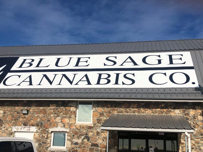 Blue Sage Cannabis Company opened Friday, Jan. 22, 2021 in Lebanon, Missouri. A second store in Carthage, pictured in this recent publicity photo, is to open Saturday, Jan. 29, 2021.