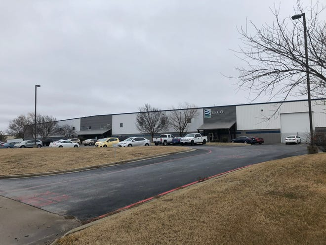 Monett-based EFCO's Springfield operations, including this facility in Partnership Industrial Center West, are shutting down by the end of February 2021. A majority of the 75 people affected will get job offers from the Monett facility, the company said on Jan. 25, 2021.