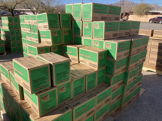 Thin Mints are usually the top seller for Girl Scouts. The box costs $4.