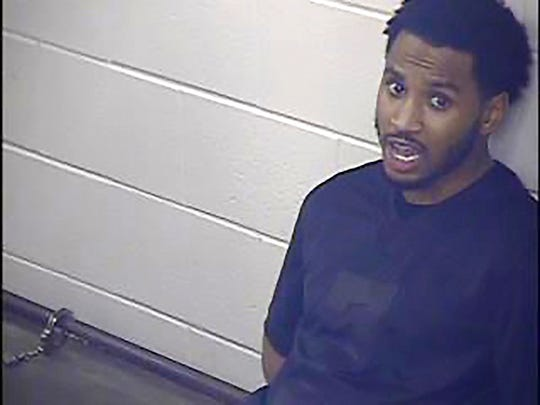 This undated photo provided by the Jackson County Detention Center, In Kansas City, Missouri shows Trey Songz.