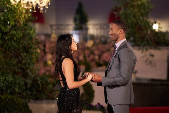 """Matt James meets new contestant Brittany on episode 4 of """"The Bachelor."""""""
