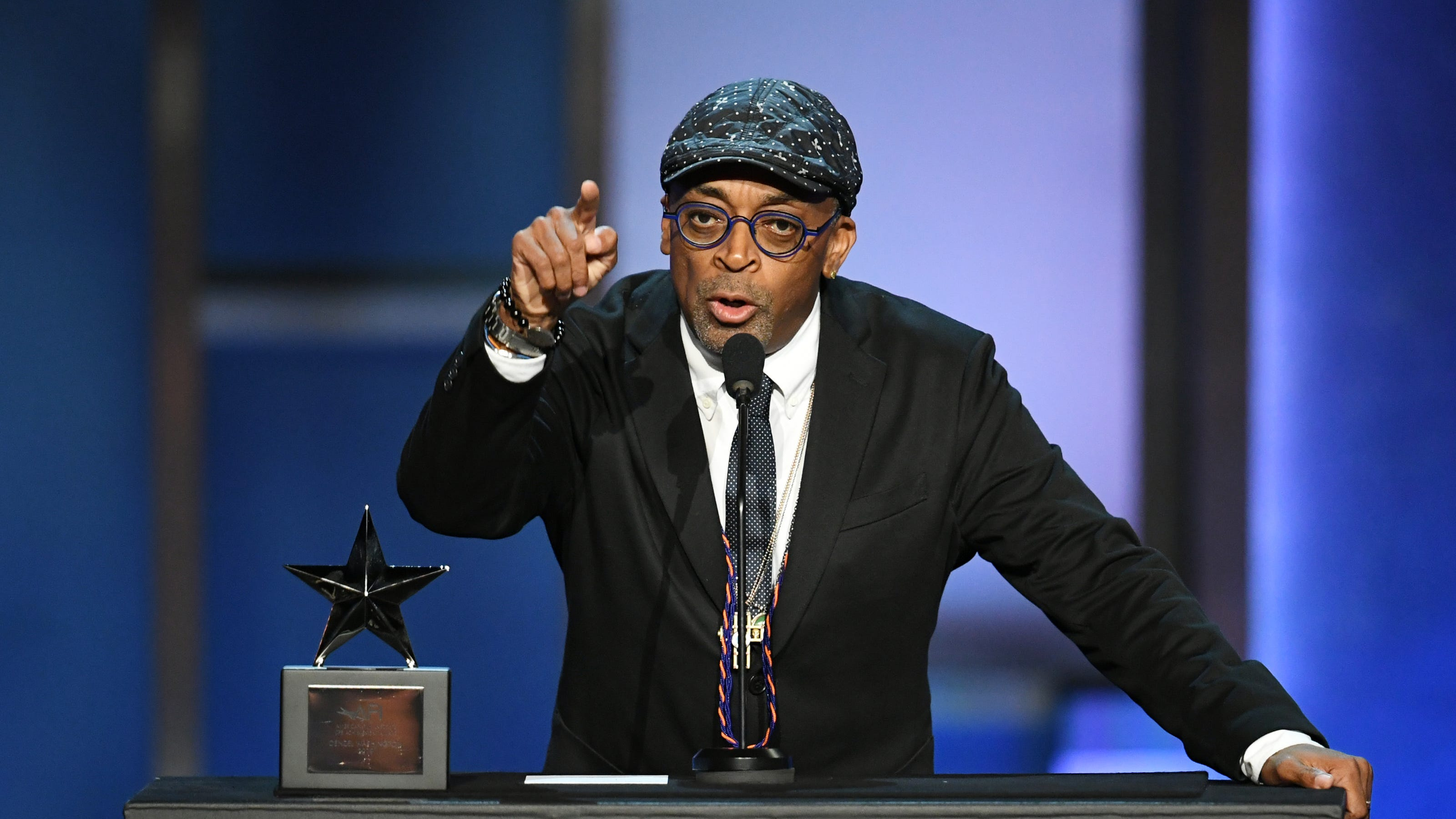 Spike Lee says Donald Trump 'will go down in history with the likes of Hitler' in New York Film Critics speech