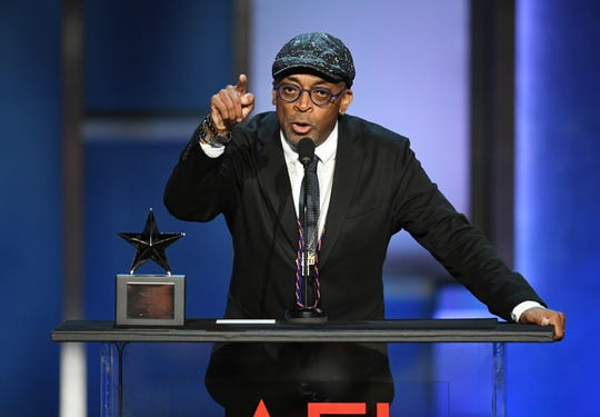 Spike Lee at the AFI event in 2019 had harsh words about President Trump as he received a special honor at the New York Film Critics Awards on Sunday.