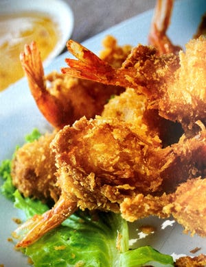 """These coconut shrimp are from """"Keto Kitchen: Air Fryer Cookbook"""" byElla Sanders."""